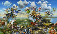 """Magical Mystery Tour ROBERT LYN NELSON  The Beatles Homage Series  36""""x 60"""""""