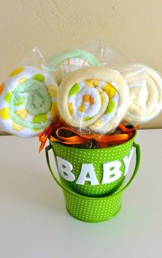 Party ● Tutorial ● Baby Washcloth Lollipops