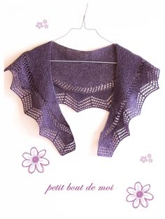 Cassis shawlette by collete audrey #shawl #free #pattern #knitting
