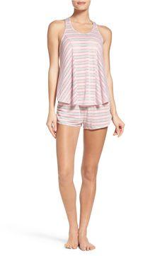 521ff9551ed11 Main Image - Betsey Johnson Short Pajamas Striped Pyjamas