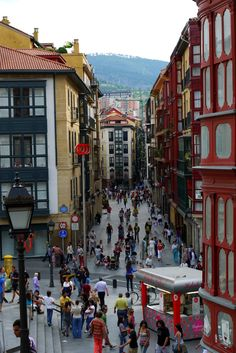 Bilbao Siete Calles Street) Old town Spain – … Colonial Architecture, Beautiful Architecture, Marbella Old Town, Phuket City, Dubrovnik Old Town, Ibiza Town, Alicante Spain, Colourful Buildings, Basque Country