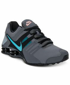 new style af318 6aa2c ... mens nike shox current pink grey ...