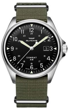 Glycine Watch Combat 6 Vintage Pre-Order #basel-16 #bezel-fixed…