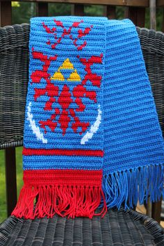 Hyrule Warriors Link Inspired Scarf by Crochetri on Etsy, $75.00 I WANT IT. I WANT ALL ZELDA ITEMS curse not having 75 dollars...