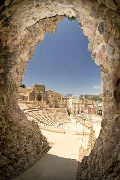 Murcia Cartagena Ruins of Amphitheatre, Spain