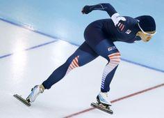 Lee Sang-hwa, of South Korea, skates to gold during the women's 500-meter speedskating.