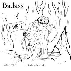 30 Days of Badass: Day 15  Kicking a wampa in the balls.