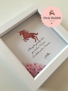 Glitter Unicorn Picture Always Be Yourself by ThePinkRabbitDesigns
