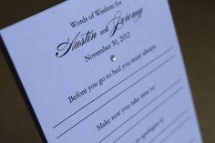Marriage Advice for the Bride and Groom Bridal by decadentdesigns, $18.75