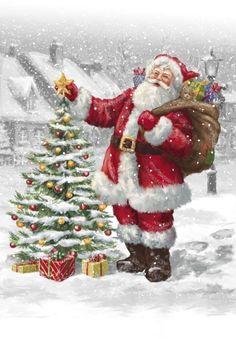 weihnachten bilder Marcello Corti - W - Christmas Scenes, Father Christmas, Vintage Christmas Cards, Santa Christmas, Christmas Pictures, Winter Christmas, Christmas Crafts, Christmas Decorations, Vintage Santas
