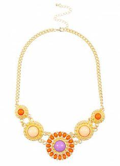 Imani Empress Collar Coral/Purple #shopPD #SummerEssentials