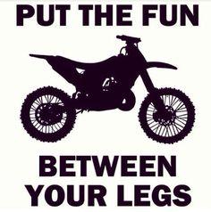 Haha put the fun between your legs. motorcycle card moto cards cross