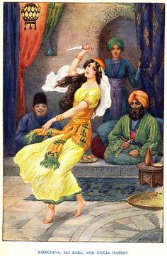 Morgiana , Ali Baba And Cogia Hassan by Harry G.Theaker