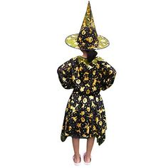 2018 2 PCS Cute Kids Girl Halloween Dress, Pumpkin Witch Star Print Dance Dress & Wizard Hat Outfit Set and more Fantasy Costumes for Girls, Girl's Halloween Costumes, Mermaid Costumes for Girls for Girls Mermaid Costume, Mermaid Halloween Costumes, Witch Costumes, Girl Halloween, Fantasy Costumes, Halloween Dress, Girl Costumes, Outfits With Hats, Star Print