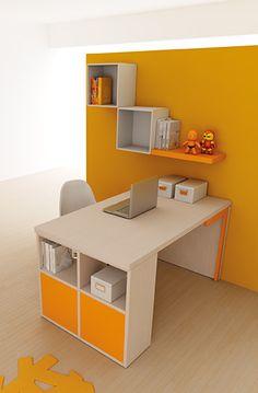 #Arredamento #Cameretta Moretti Compact: Catalogo Start Solutions 2013 >> LH17 #scrivania #mensole http://www.moretticompact.it/start.htm