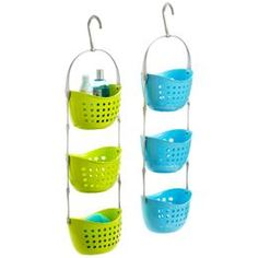 shower organizer with bright colors<3