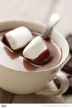 Chocolate quente.