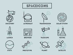 Space & Science Line Icons by SoSweet! Creative for Attack Pattern (http://attackpattern.com/about)