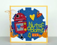 """""""Nuts and Bolts 4 You"""" card made using #Cricut!"""