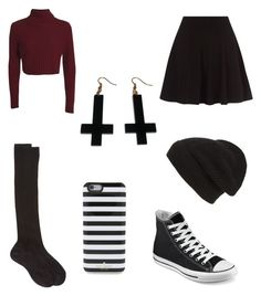 """""""Untitled #29"""" by cool-ostrich ❤ liked on Polyvore featuring Converse, Maria La Rosa, Phase 3, Kate Spade and Chicnova Fashion"""