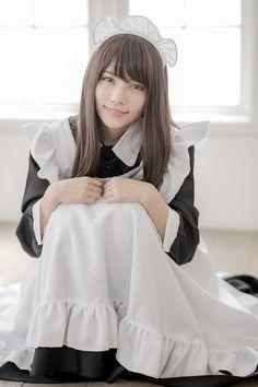 Maid Cosplay, Cosplay Girls, Female Pose Reference, Maid Uniform, Cute Poses, Maid Dress, Female Poses, Sexy Asian Girls, Japanese Girl