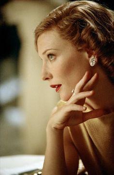 Cate Blanchett as Katharine Hepburn in The Aviator.