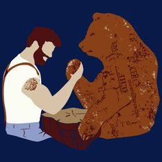 Sharp Shirter, Inc Funny Bear Poster Rustic Theme Animal Wall Art Mancave Decor Woodland Print Arm Wrestling Blue But Is It Art, Funny Bears, Bear Art, Rustic Theme, Poster Prints, Art Prints, Graphic Tees, Arms, Wrestling