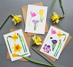 Spring greeting cards by Studio Sonate. Watercolor illustration. Watercolor Illustration, Greeting Cards, Studio, Spring, Etsy, Vintage, Instagram, Design