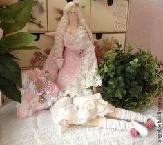 Ангел розовых снов - бледно-розовый,тильда,тильда кукла,тильда ангел,ангел