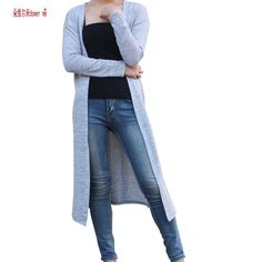 101c02620fb Cardigan Women Sweater casual Plus Size Coat Women long Sweaters vestidos  Cardigans-Women Clothing