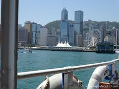 :-) traveling by Star Ferry :-)