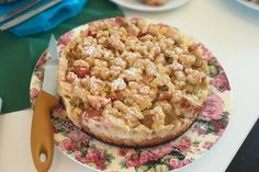 Rhabarberkuchen mit Vanillecreme und Streusel 1