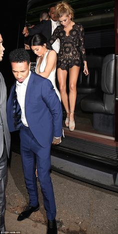 All aboard the party bus! Tyga, Gigi, Kylie and their pals disembark at The Nice Guy for B...
