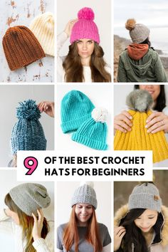 9 OF THE BEST DIY CROCHET HATS - FOR BEGINNERS #CROCHET #HAT #FREEPATTERN #CROCHETPATTERN
