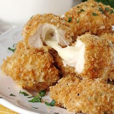Baked Chicken Nuggets Stuffed With Mozzarella!