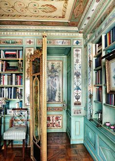 thefoodogatemyhomework: Howard Slatkin's Fifth Avenue dining room and library is just the greatest ever. Soak it in.
