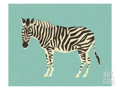 Zebra by Pop Ink - CSA Images. Print from Art.com, $24.99