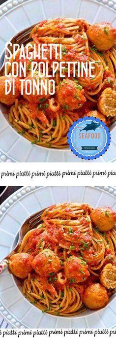 Spaghetti con polpettine di tonno