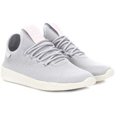 adidas Originals = Pharrell Williams Pharrell Williams Tennis Hu... ($115) ❤ liked on Polyvore featuring shoes, sneakers, grey, sneakers tennis shoes, gray shoes, gray sneakers, adidas originals sneakers and tennis shoes sneakers