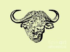 African Buffalo, Fine Art America, Moose Art, Digital Art, Art Prints, Wall Art, Artwork, Animals, Design