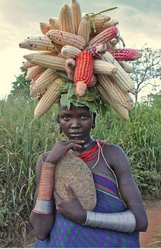 Ethiopia, Black Virgo. with the wealth of the Harvest as Tribute and ritual adornment.