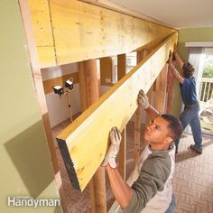<p>Open up cramped rooms by replacing a wall with a load-bearing beam. Create an open kitchen/dining area, a larger living room or a huge master bedroom using basic framing techniques and standard materials.</p>