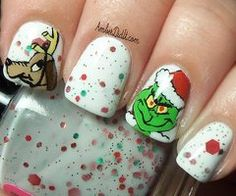 Manicure ideas ...cute for Christmas