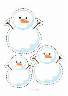 Winter Preschool Centers. A page from the unit: order by size: snowmen