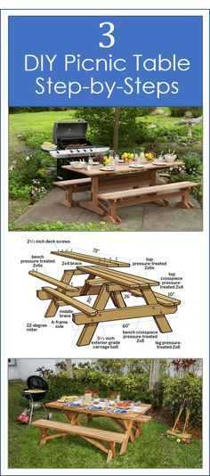 Pick your picnic table style! We show you how to build it.