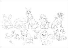 Christmas Dog Breeds For Adults And Kids Coloring Pages Free Printable Of