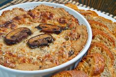 Hot cheesy mushroom dip. Someone please make this for me and serve it to me on the couch.