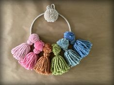 WobiSobi: Rainbow Pom Pom, Tassel Wall Hanging. Chromotherapy, Pom Pom Maker, Rainbow Decorations, Color Effect, Yarn Colors, Love And Light, Hello Everyone, Something To Do, Things To Think About