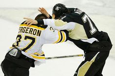 So... did you see Crosby elbow/shove Rask after the second period... Then courageously push Chara (with a ref separating him from the big guy, of course). Just pure class.... Bruins, nasty Game 1 win over Penguins has feel of 2011 - CSMonitor.com