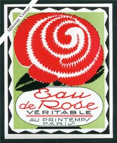 Vintage French Perfume Soap Label Art Deco Antique Rose France Early 1900'S   eBay